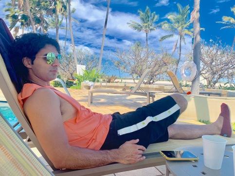 pool, hilton garden inn wailua bay, sunbath, relax, kauai, hawaii