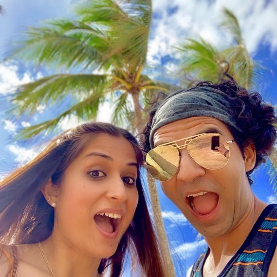 honolulu, waikiki, beach, palm trees, hawaii, sunglasses, hang loose
