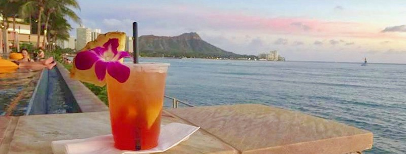 mai tai, cocktails, beach, vacation, kauai, hawaii
