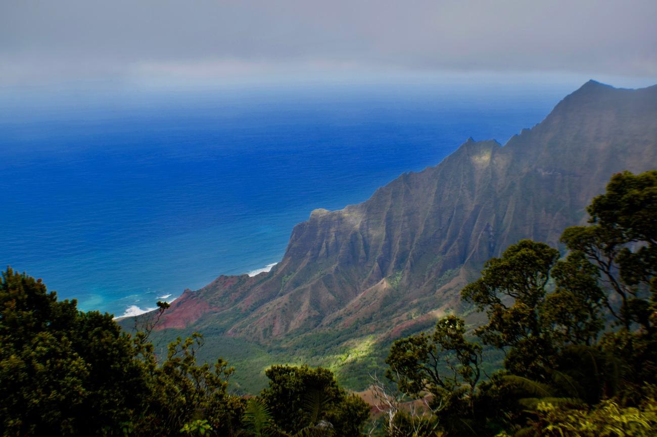 Stunning landscape, lush greenery of Kauai, hawaii, waimea canyon, napali coast