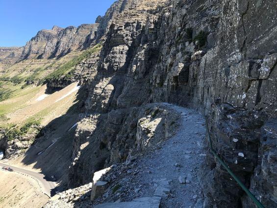 national parks, glacier national park, grinnell, highline, trail, hikes, adventure, forest, wildlife, wildflowers, nature highline trail ledge