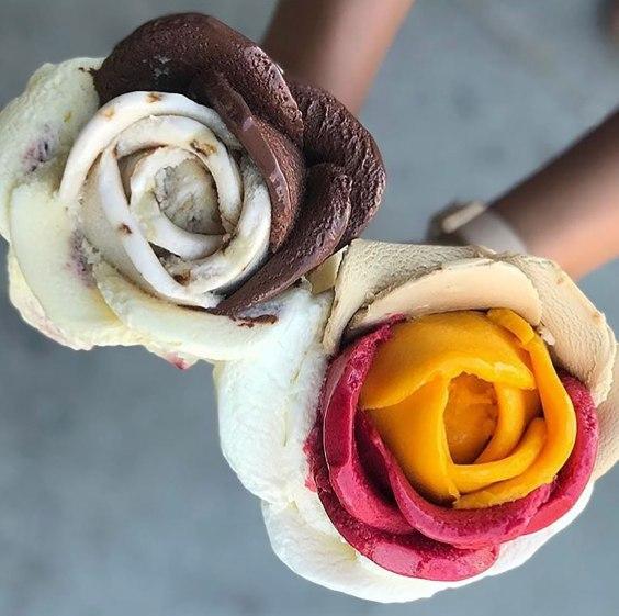 amorino pretty gelato folded like a petal beautiful colorful