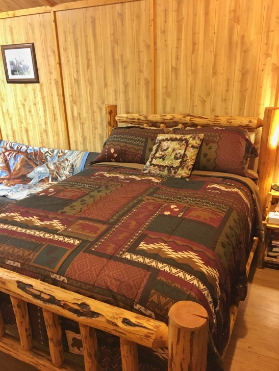 Glacier General Store and Cabins, glacier national park, coram, west entrance, beautiful cabins, indoors, queen bed