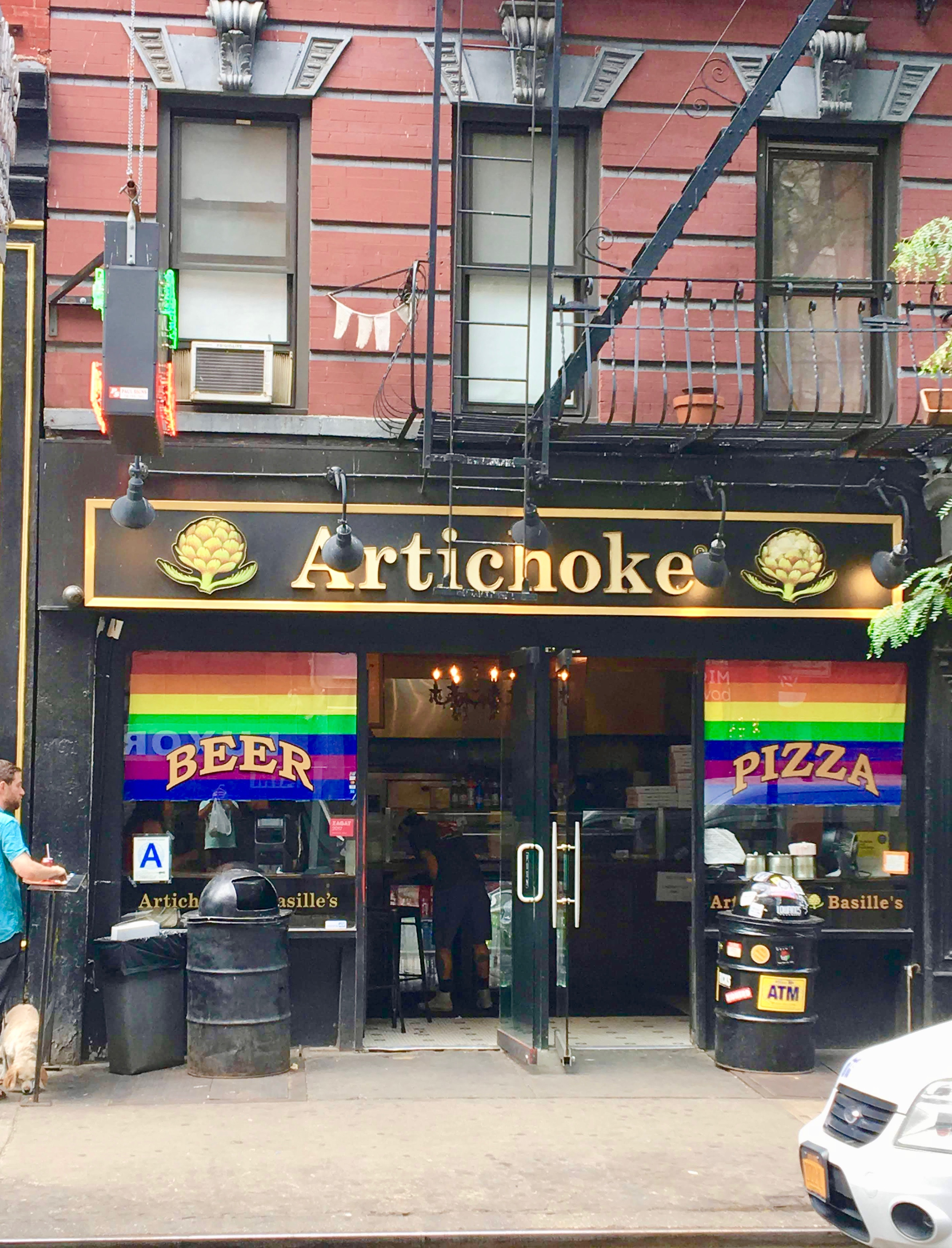 artichoke basil pizza nyc