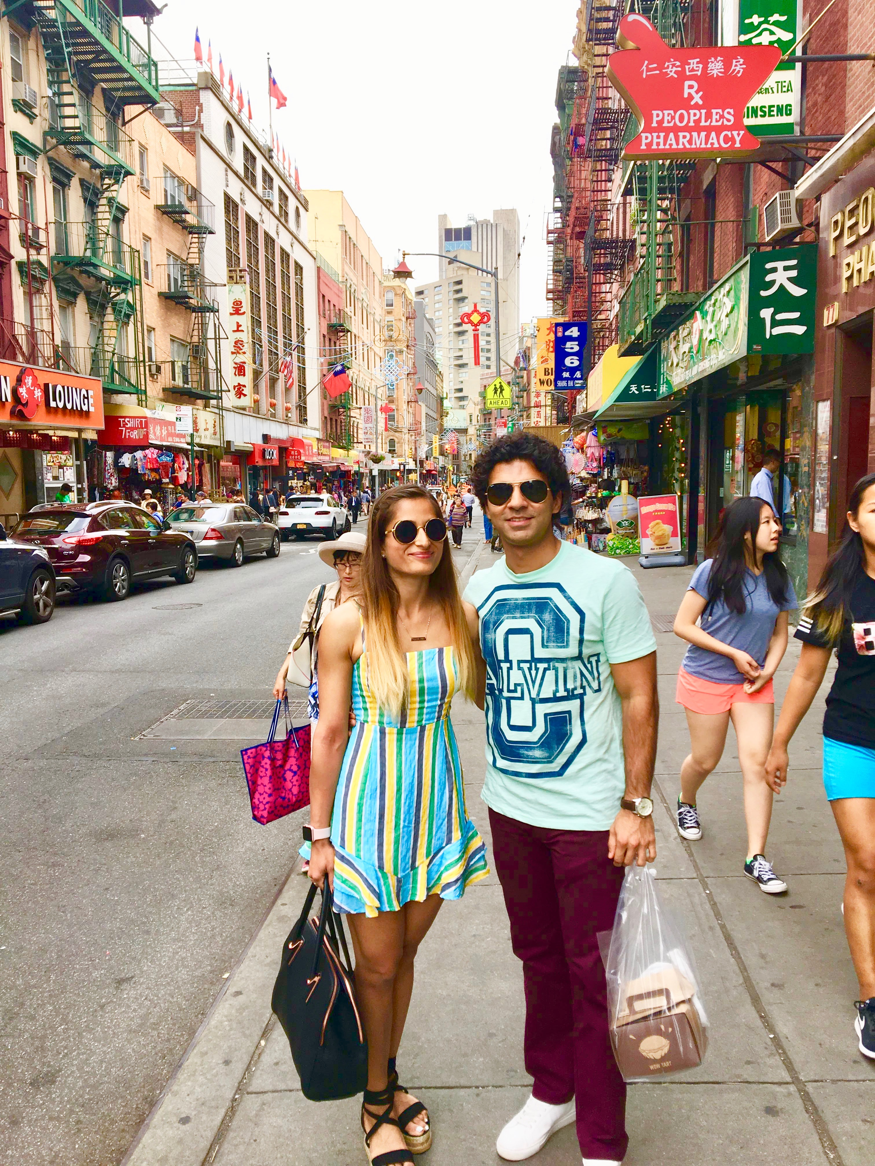 couple chinatown, sunglasses new york city nyc summer