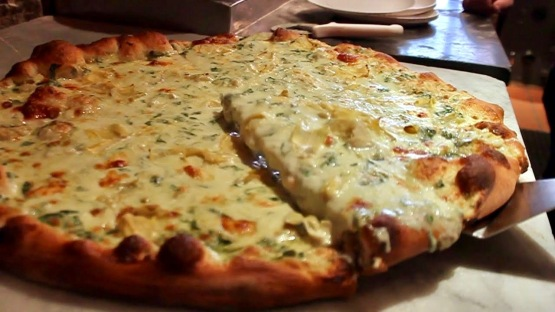 artichoke basil pizza nyc delicious cheesy