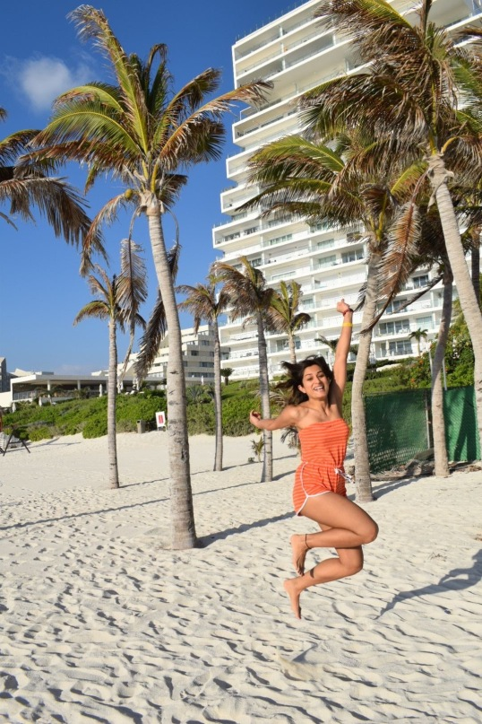 white sand beaches of cancun mexico, paradise island, resorts on hotel zone, waking up at the beach