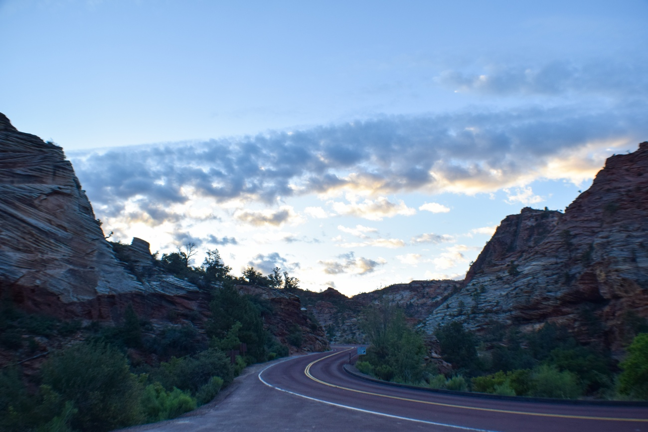Zion national park, virgin river, landscape, sandstone cliffs, Utah National Parks, beautiful nature, early morning drive, scenic highway