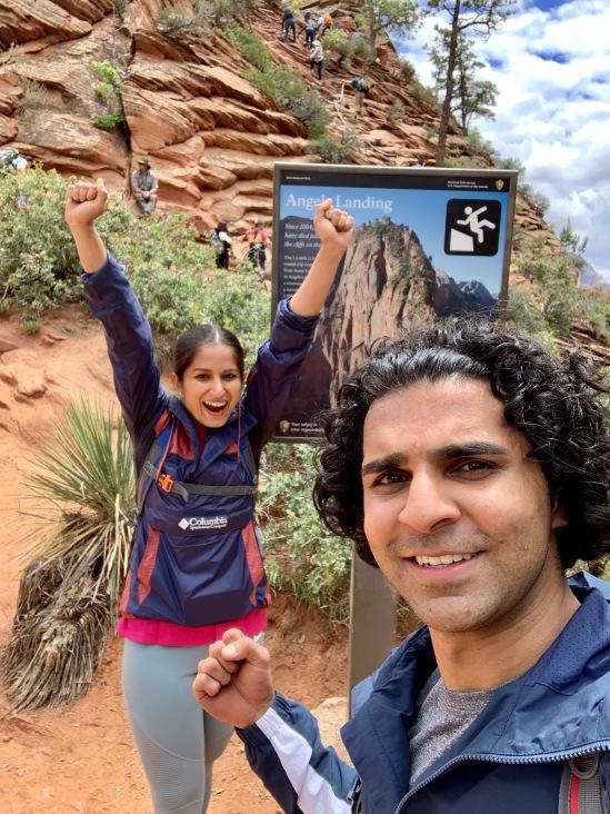Zion national park, virgin river, landscape, sandstone cliffs, Utah National Parks, beautiful nature, Angel's Landing Summit, adventure hike, beautiful view, Scout's Lookout