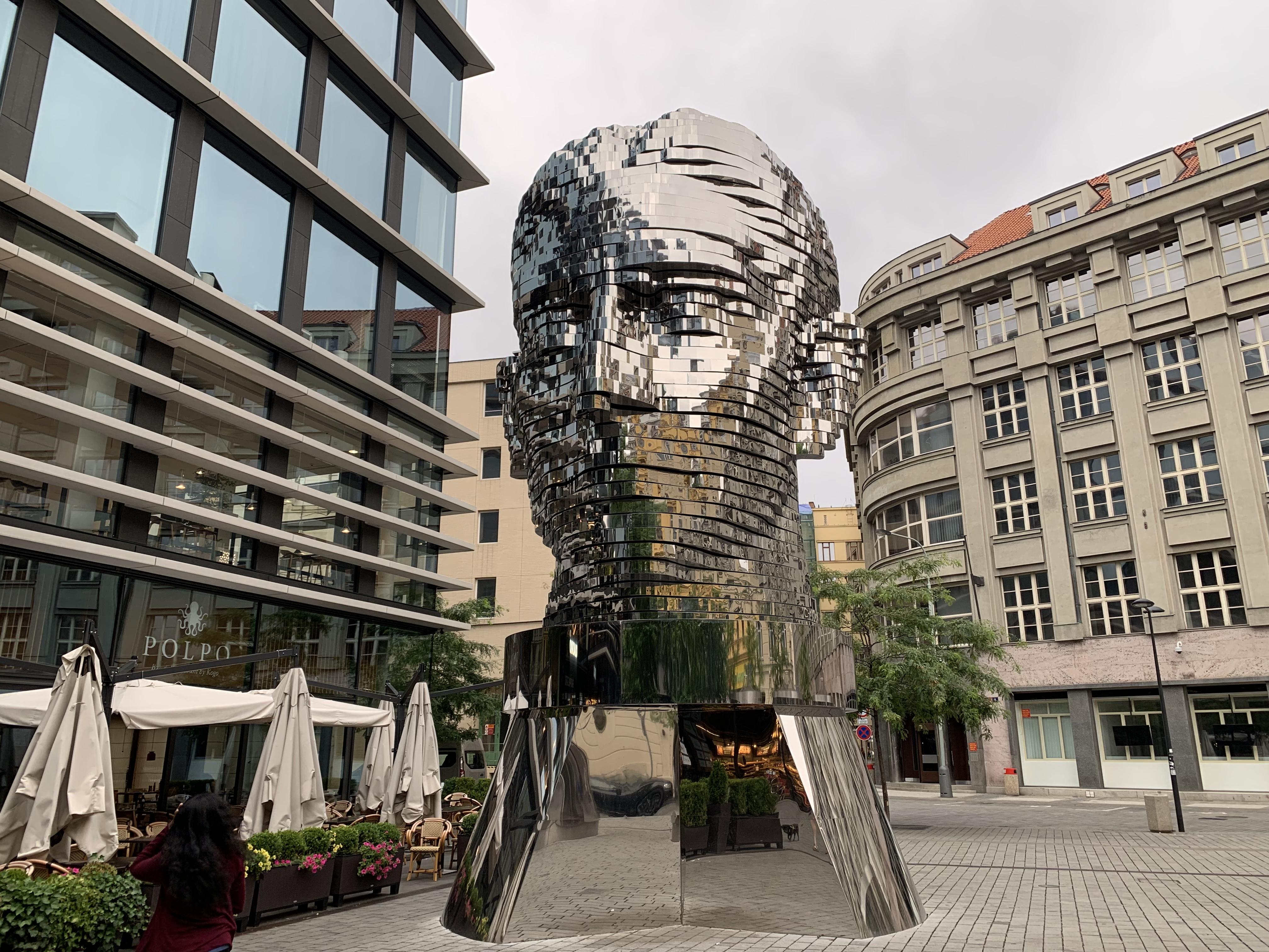 Franz Kafka head prague